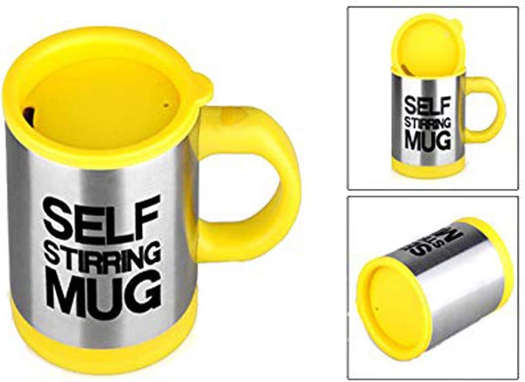 Rouge Zeerkeer Cup Auto-amor/çante Tasse /à Caf/é en Acier Inoxydable Automatique /Électrique Lazy Stirring Mug Thermos Cup Tasse de M/élange pour Bureau Voyage Maison 400ML
