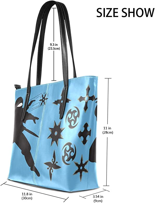 AMONKA Bolsa de hombro de piel con diseño de estrella ninja ...