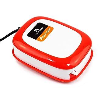 1MI Store Bomba de Aire para Acuario y Pecera, Bomba de Oxígeno Oxigenador con Doble Salida para Tanque de Peces.: Amazon.es: Productos para mascotas