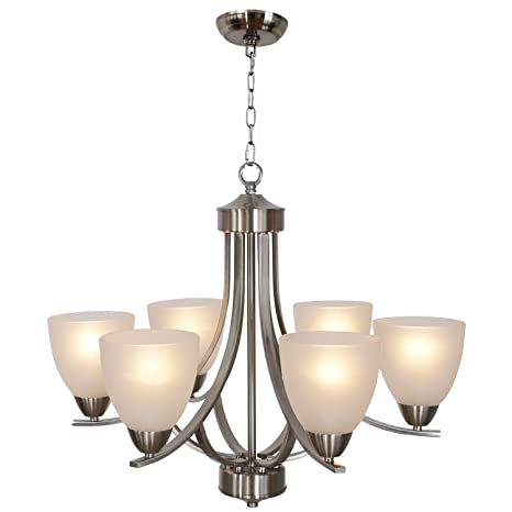 Amazon.com: VINLUZ - Lámpara de techo (5 luces, níquel ...