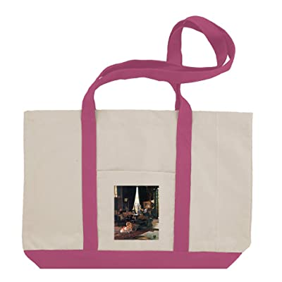 Hide And Seek (Tissot) Cotton Canvas Boat Tote Bag Tote