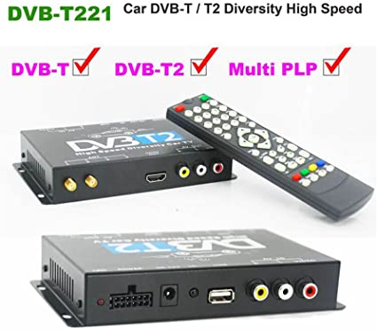 Keenso DVB-T HD//SD Mobile Car Digital TV Box Analog TV Tuner High Speed 240km//h Strong Signal Receiver Car Digital TV Box
