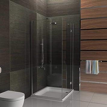 Eck-ducha 6 mm cubicado incluido Antikalk cabina de ducha 80 x 90 x 195 baño: Amazon.es: Bricolaje y herramientas