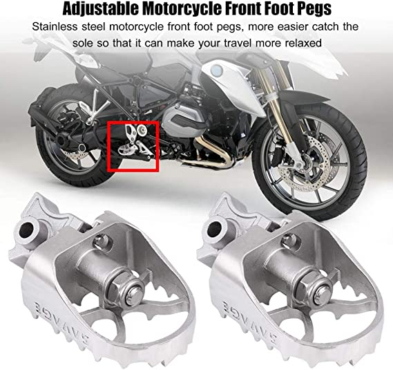 2PCS Rider Driver Footpegs Footrests For BMW R1200GS//ADV 2013-2017 Pedals