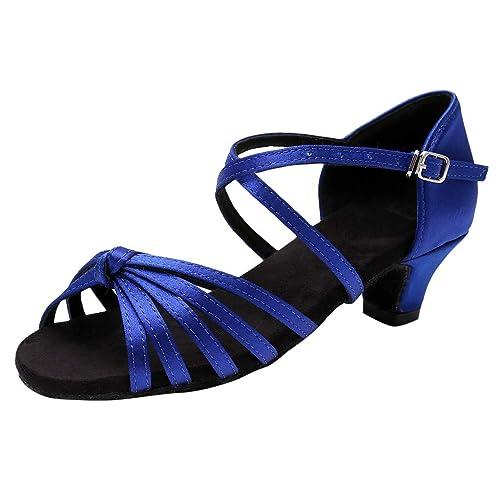 9ae01537c Zapatos de Fiesta de Tango Latino Tacon para Niñas Primavera Verano 2019  PAOLIAN Calzado Danza Princesa Chicas Sandalias Vestir Boda Zapatillas  Bailarina ...