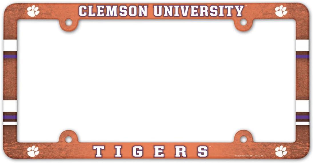 Wincraft Clemson University Tigers Plastic License Plate Frame