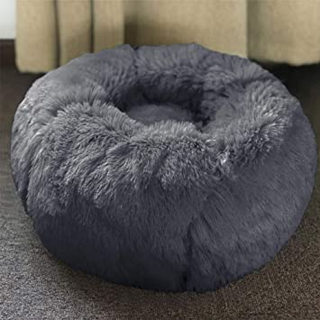 Magnificent Amazon Com Goldenking Self Warming Round Dog Bed Cat Bed Squirreltailoven Fun Painted Chair Ideas Images Squirreltailovenorg