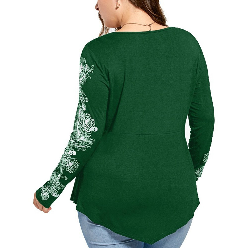 Amazon.com: YKARITIANNA Womens Long Sleeve Solid Plus Size ...