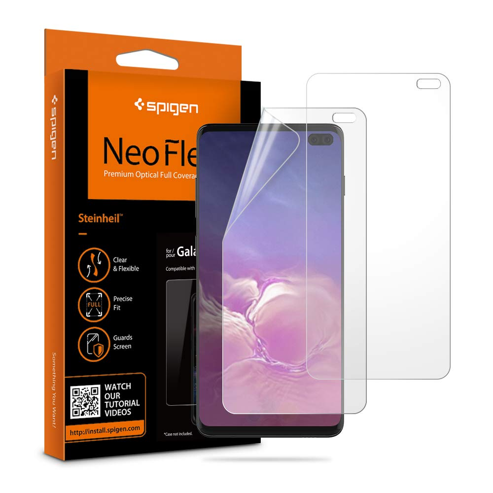 Spigen NeoFlex Screen Protector [TPU Film] Designed for Samsung Galaxy S10 Plus (2019)(2 Pack)