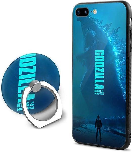 Joy R Daniels Godzilla Phone Case Compatible iPhone 8 Plus, iPhone 7 Plus,Ultra Slim Cover Case with 360 Degree Swivel Ring Kickstand Anti Scratch ...