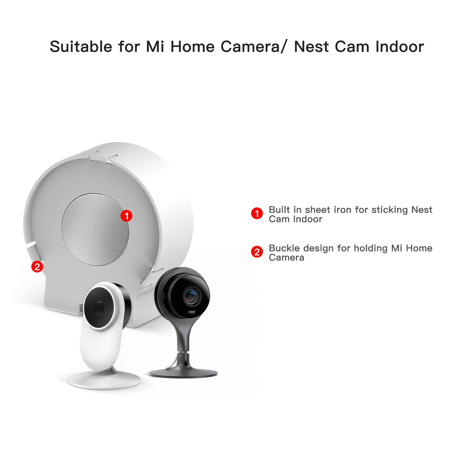 Nest Cam Indoor Mi Home Camera Ac Outlet Mount 360 Degree Swivel Electric Plug Wiring