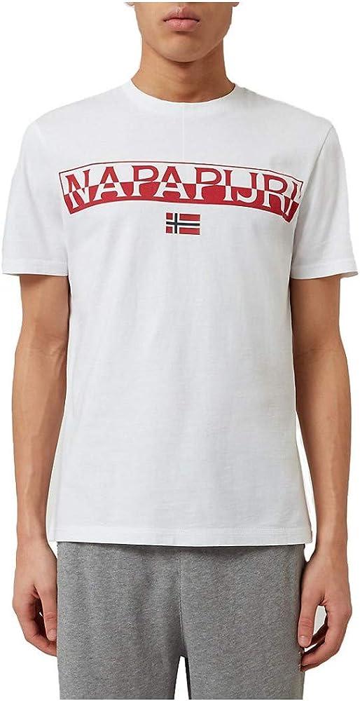 Napapijri Camiseta Saras Solid Bright White S, Blanco: Amazon.es: Ropa y accesorios