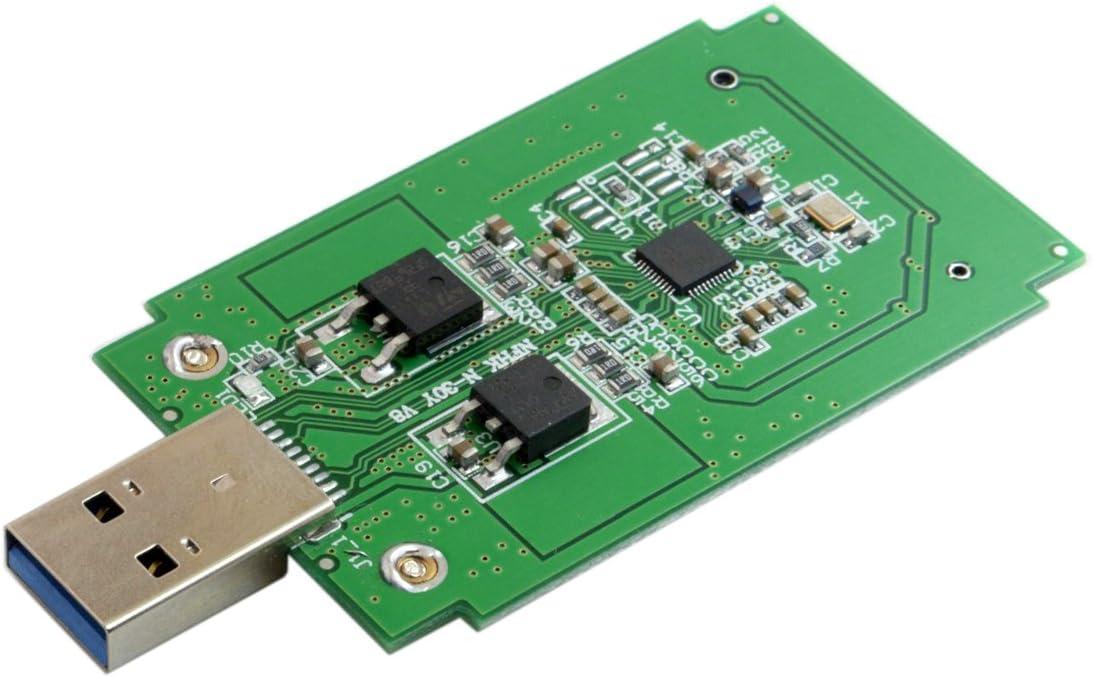 CY Mini PCI-E mSATA to USB 3.0 External SSD PCBA Adapter Conveter Card with Enclosure