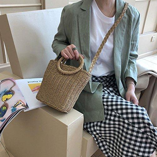Holiday Beach Single Shoulder GAOQQ Bag Crossbody Knitted Hand Bag Straw Bag Bag Rattan Summer fxfqIt