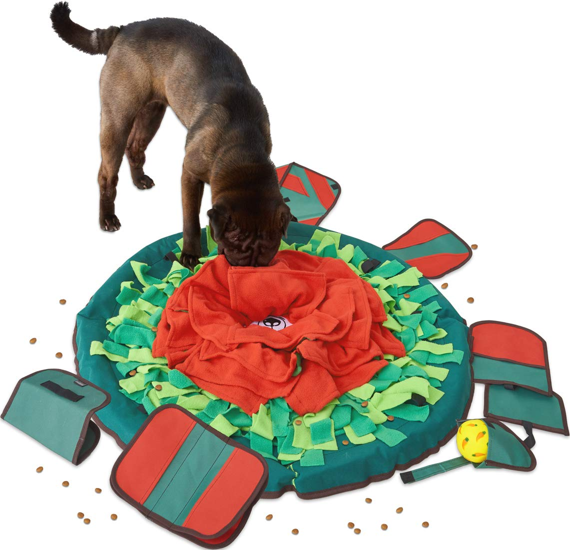 SNiFFiz SmellyMatty Snuffle Mat for Dogs - Interactive Food Puzzle Toys Package ( Large Nosework Blanket + 5 Treat Puzzles ) - Slow Feeding Games with Stress Relief for Boredom by Sniffiz