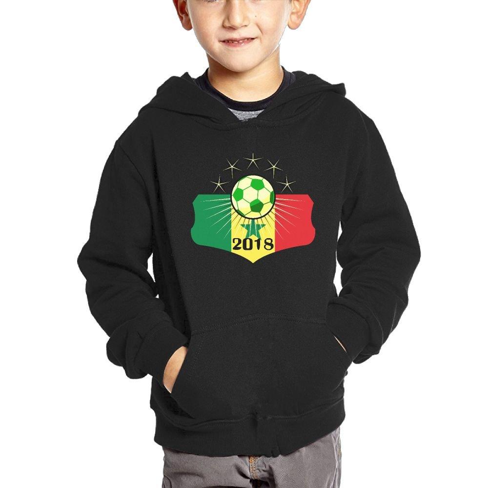 Small Hoodie Soccer Game 2018 Senegal Boys Casual Soft Comfortable Sweatshirts Kangaroo Pocket Hoodies