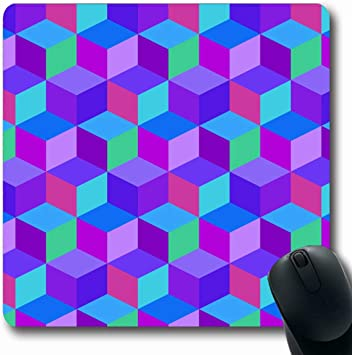 Luancrop Alfombrillas para computadoras Ladrillo Azul Cubo ...