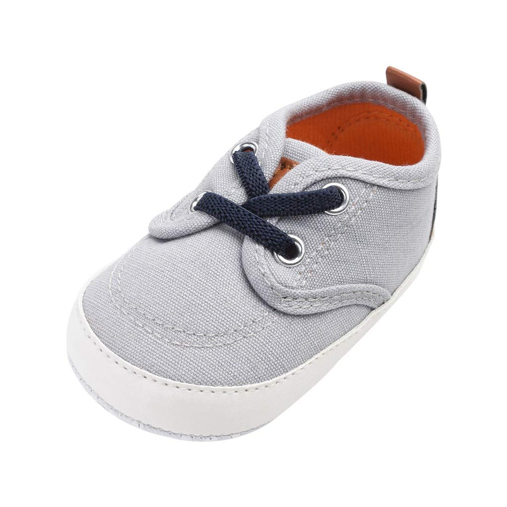 Voberry- Newborn Baby Soft Sole Shoes Candy Color Sewing Anti-Slip First Walkers Shoes