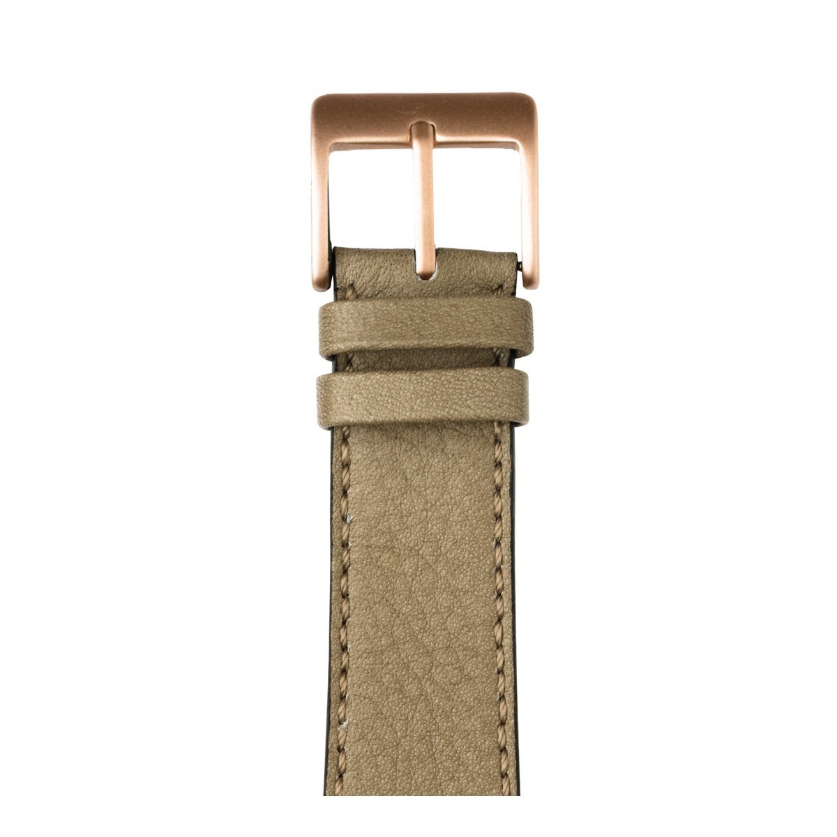 Roobaya | Premium Sauvage Leather Apple Watch Band in Light Gray | Includes Adapters matching the Color of the Apple Watch, Case Color:Rose Gold Aluminum, Size:38 mm