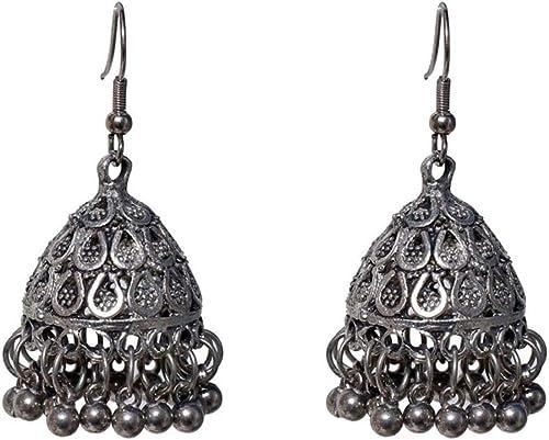 Jingle Bell Jhumka Indian Unique Ethnic Dangle Earrings Jewelry Birthday