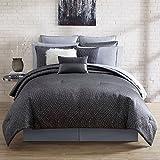 Nikki Chu 4 Piece Alyn Comforter Set, Queen, Silver Gray