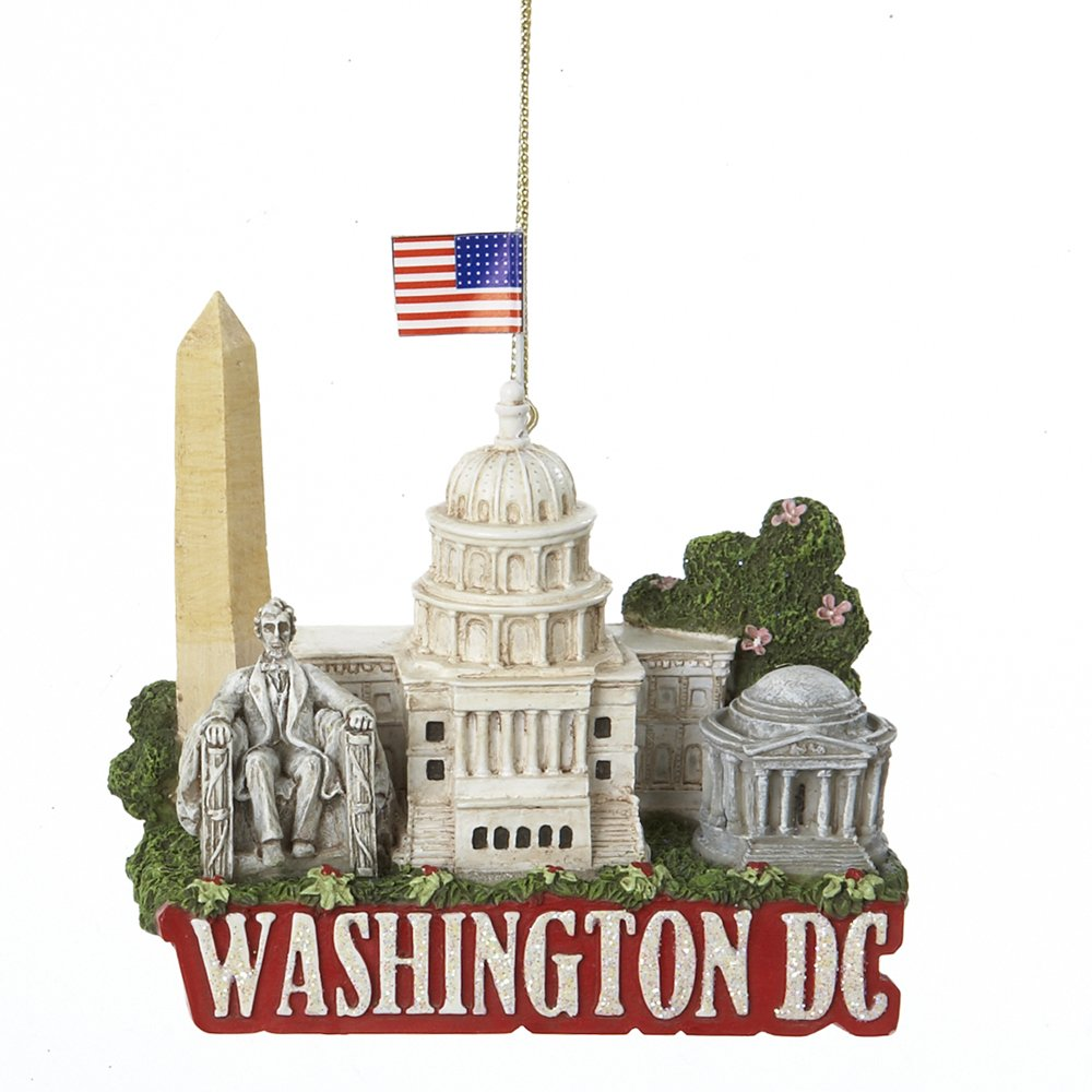 Kurt Adler City Travel Washington DC Ornament, 3.25-Inch