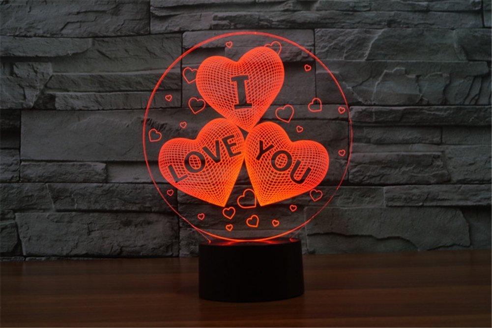 3D USB LED Lampe Nachtlicht Leuchtmotiv verschiedene Designs 7-farbig Farbwechsel (Fussball) C&T