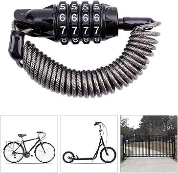 Candado Bici con Código de 4 Dígitos,180cm Candado Bicicleta Alta ...