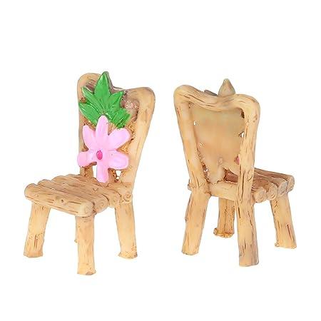 NKYSM - Miniatura de Resina Mesa y sillas Micro jardín macetas ...