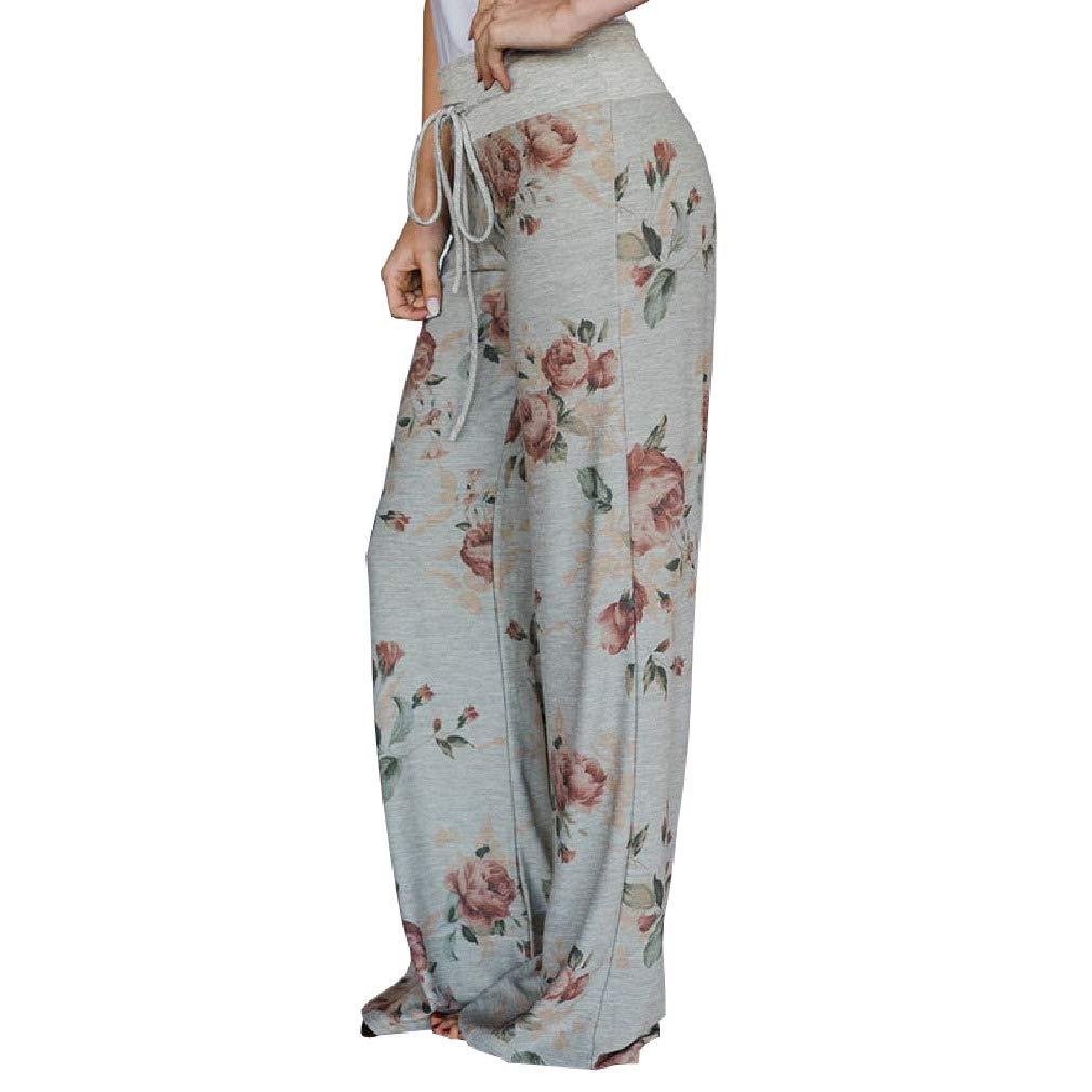 SportsX Womens Straight-Leg Waist Yoga Pants Workout High Elastic Trousers