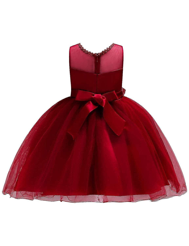 4f810923e35c Amazon.com: JOYMOM Girls Flower Embroidery Ruffles Party Wedding Dresses  Kids Ball Gown: Clothing
