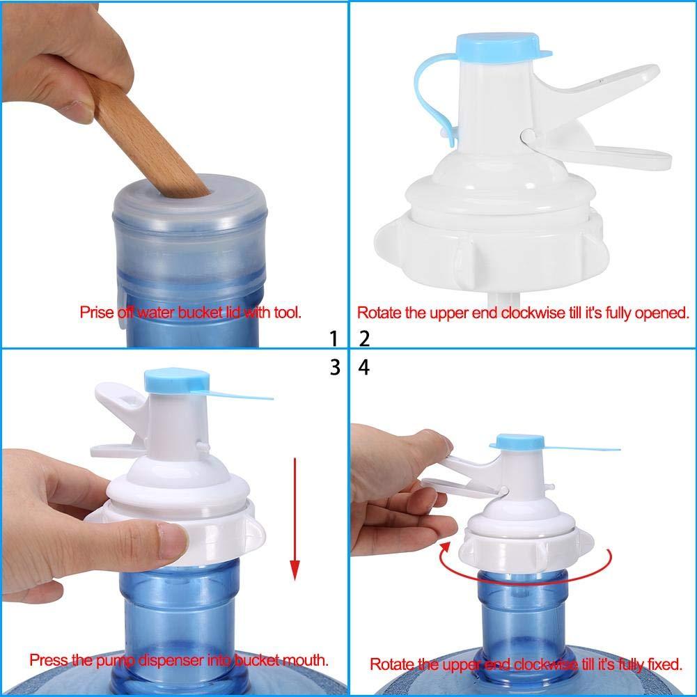 Bomba dispensadora de ca/ño de Agua Manual con Tapa Meiyya Bomba dispensadora de Botellas de Agua de Bebida