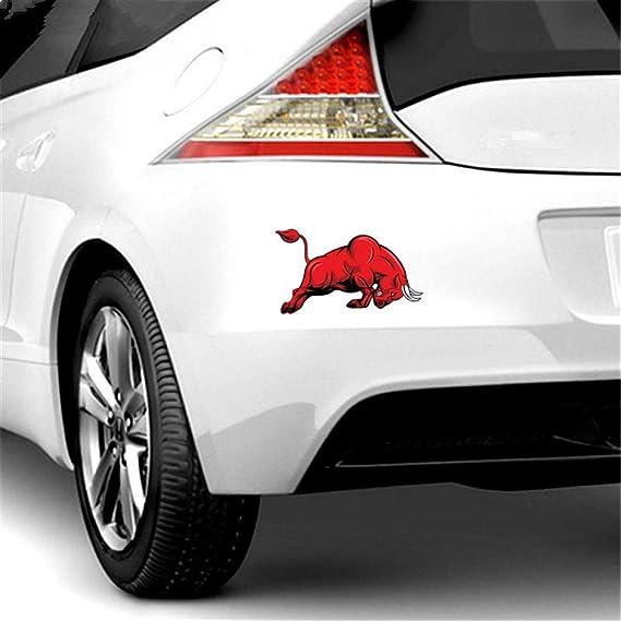 Qulin Auto Aufkleber Bull Red Springt Auto Aufkleber 17 4 10 Cm Auto