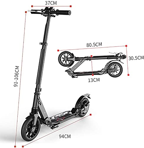 Lxla folding kick scooter for heavy adults