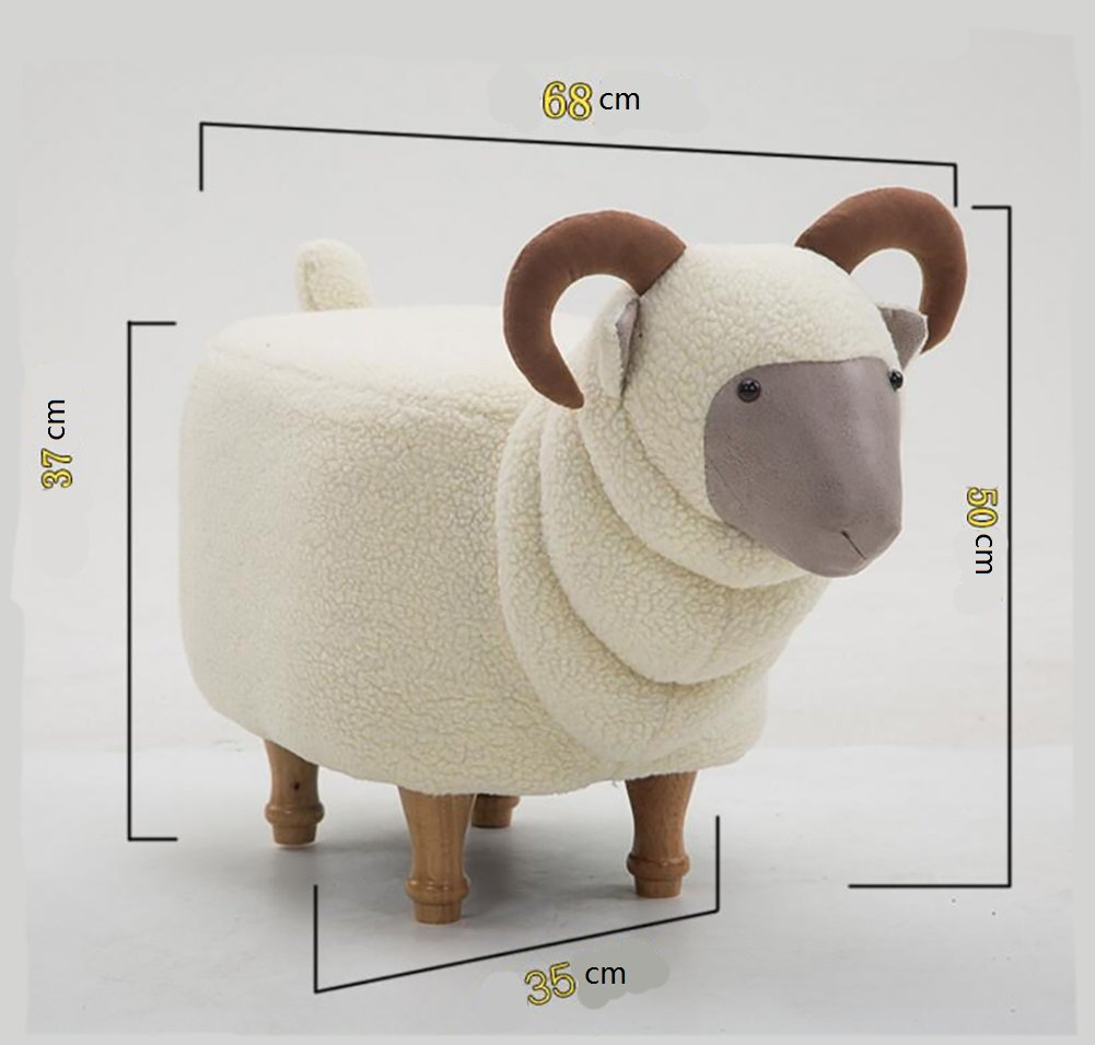 Footstool/ stool / creative, goat, changing shoes, solid wood, removable wash / designer furniture-white by Visual taste (Image #6)