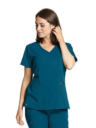 6d289d1b84a Amazon.com: Grey's Anatomy Spandex-Stretch Kim Top for Women - Easy ...