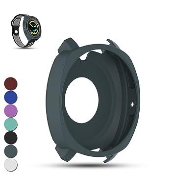 Feskio. Correa y funda protectora de repuesto para Samsung Gear Sport SM-R600 Smartwatch, suave silicona resistente a los golpes ya los impactos, ...