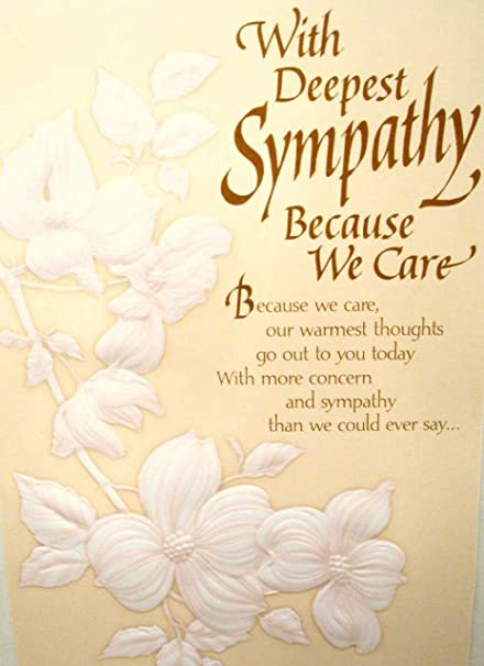 Amazon braille embossed sympathy greeting card with deepest braille embossed sympathy greeting card with deepest sympathy because we care m4hsunfo