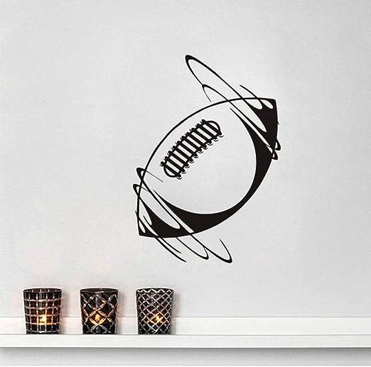 zqyjhkou Spinning Rugby Ball Vinilo Adhesivos de Pared Deporte ...