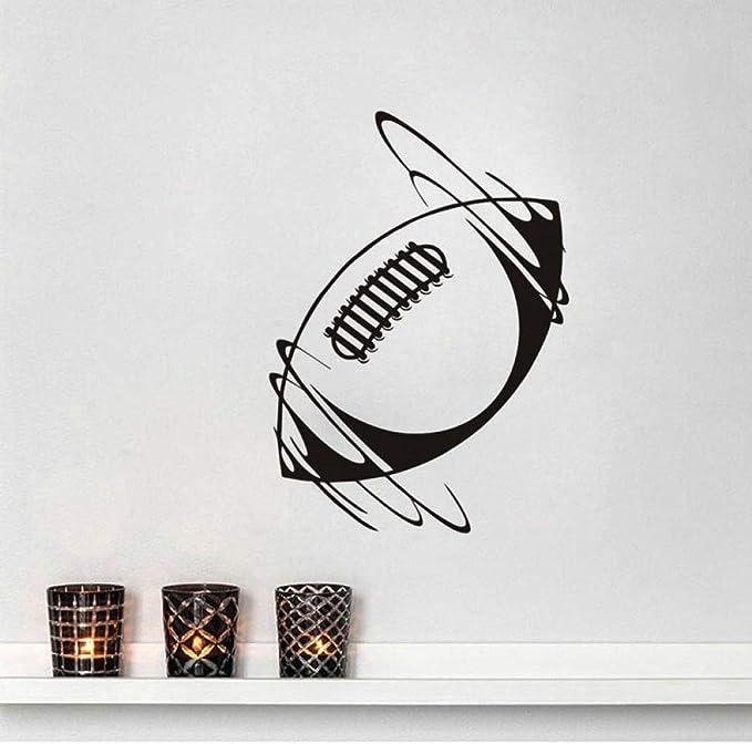 Zqyjhkou Spinning Rugby Ball Vinyl Wall Stickers Sport Home Decor