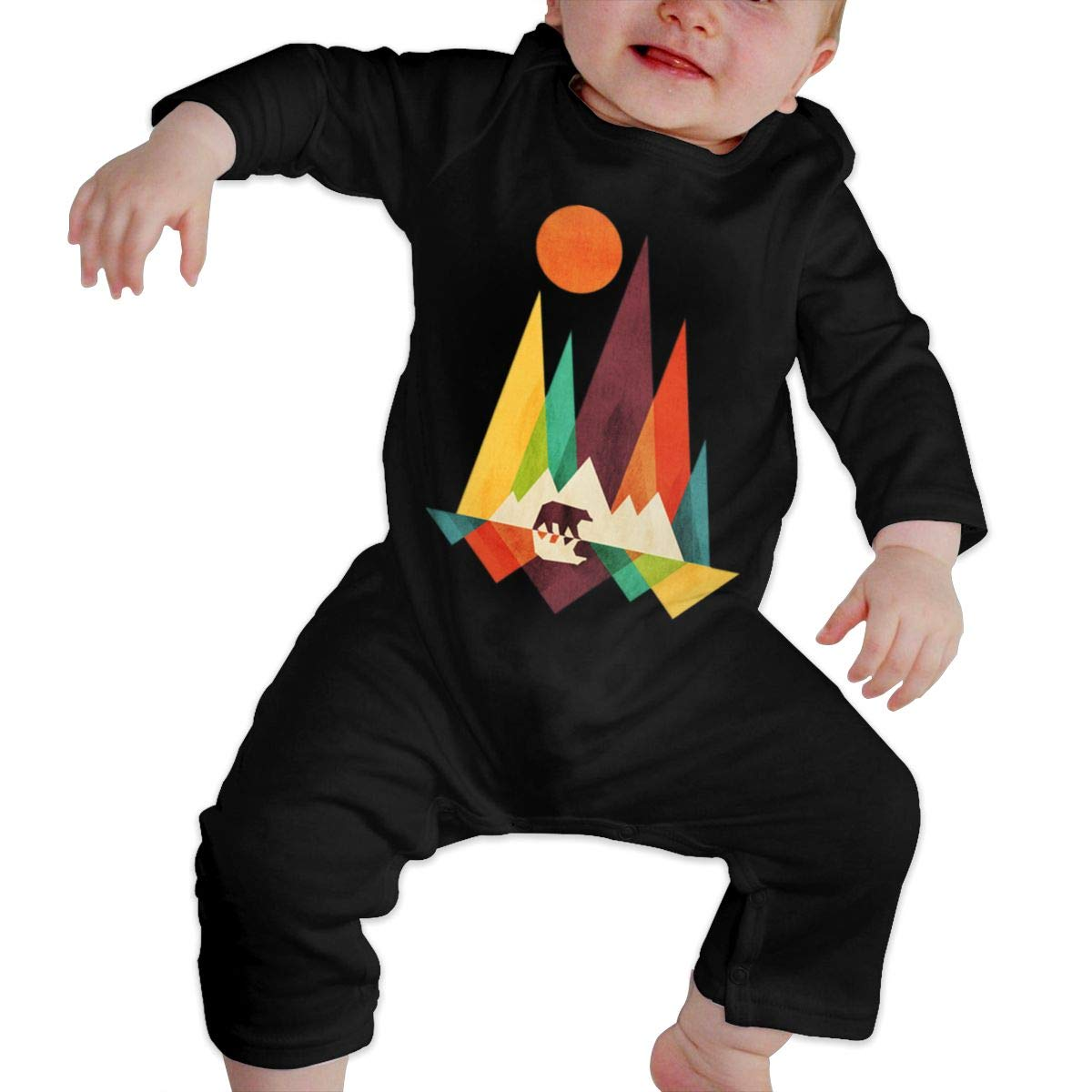 Fasenix Mountain Bear Newborn Baby Boy Girl Romper Jumpsuit Long Sleeve Bodysuit Overalls Outfits Clothes