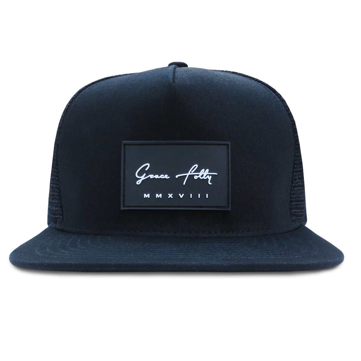 Grace Folly Trucker Hat for Men & Women. Snapback Mesh Caps Black at Amazon Mens Clothing store: