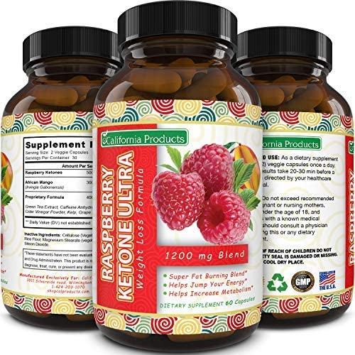 Amazon Com California Products Pure Raspberry Ketones Supplement Natural Fat Burner And Appetite Suppressant Boosts Metabolism And Reduces Belly Fat Fast Weight Loss