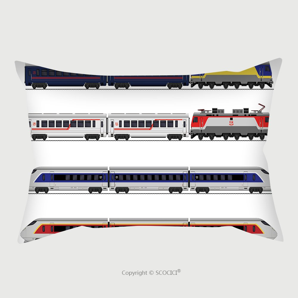 Custom Satin Pillowcase Protector Passenger Express Train Railway Carriage Set 509301019 Pillow Case Covers Decorative by chaoran