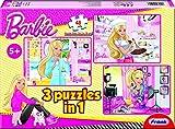 Frank Barbie 3 in 1 Puzzle, Multi Color (48 Pieces)