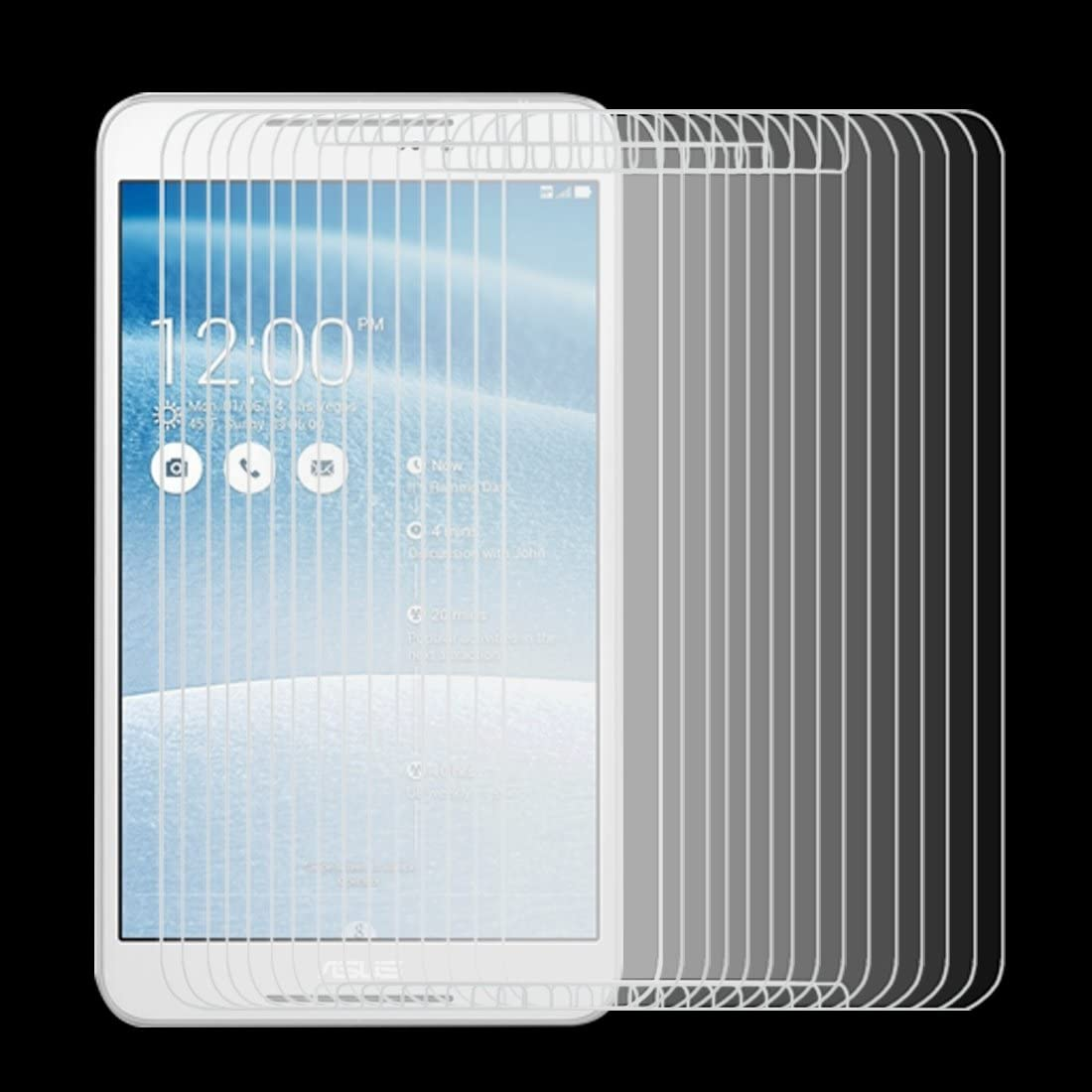 Screen Protectors 0.4mm 9H Surface Hardness 2.5D Explosion-Proof Tempered Glass Film for ASUS Fonepad 8 Size : S-mpsg-6182a FE380CG