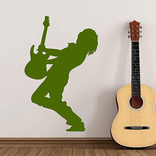 Guitarrista eléctrico Pegatinas de Pared Guitarrista Silueta ...