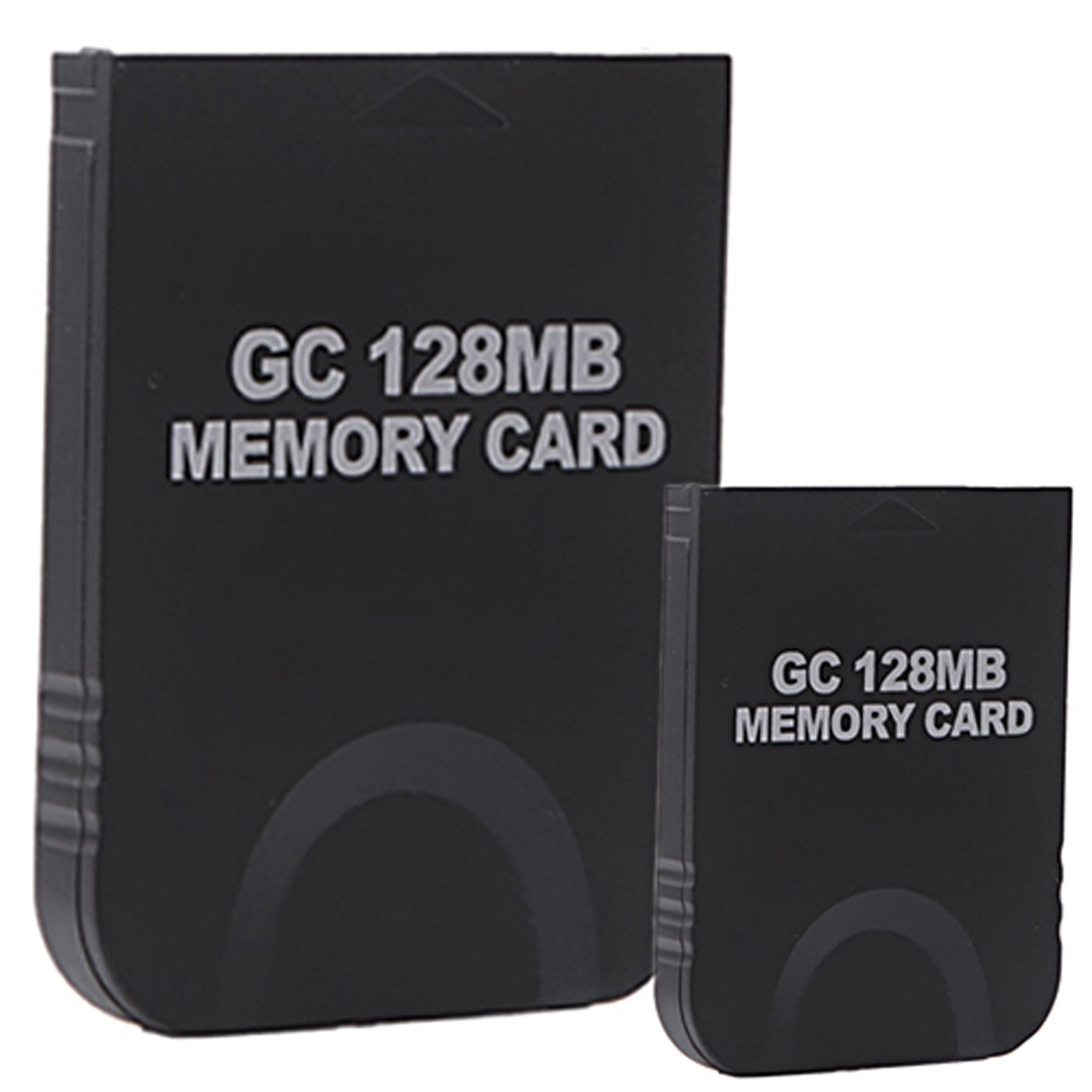HDE 2 Pack of 128 MB Gaming Memory Cards for Nintendo Wii and Gamecube (Black) by HDE