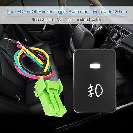 Amazon com: LED Light Bar Rocker Switch ON-OFF LED Light, Keenso 12V