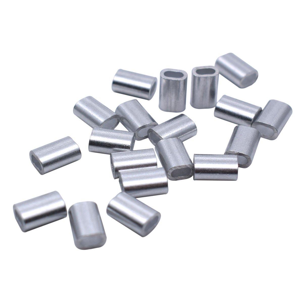 Aluminium Ärmel Clip Single Oval Loch Kabel verarbeitet für 1,5 mm ...
